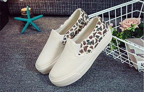 ALUK- Printemps et automne toile Chaussures Casual Shoes Chaussures étudiants coréens ( couleur : Blanc , taille : 35 ) Blanc