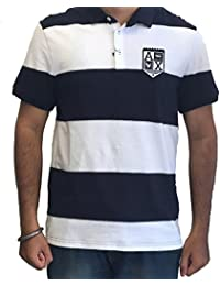 Armani Exchange Mens Short Sleeve Slim Fit Polo T-Shirts Colour Navy/White IMPORTED FROM USA