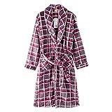 Bademäntel ZLR Herren Herbst und Winter Pyjamas Warm langen Abschnitt Nachthemd Casual Herren (Farbe : Bunte, größe : L)