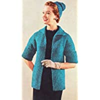 Easy Finger Tip Length Sweater Coat Jacket & Hat Cap Beanie Tam Knit Knitting Pattern Sizes: 10-12-14-16-18-20-42 (English Edition)