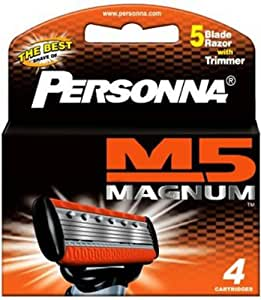 Glide Magnum 5 Blade Refill Cartridge - 4 Pieces