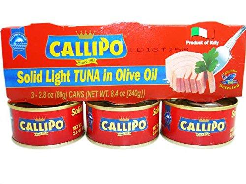 Callipo Tonno in scatola italiano in olio di oliva 2,8...