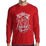 N4835L Camiseta de Manga Larga The Dark Side of The Beer (XX-Large Rojo