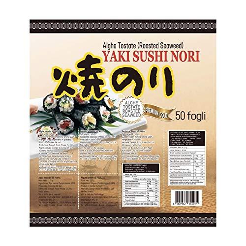 PaC Sushi Nori Sushinori - Alghe per Sushi (50 fogli) / Sushi Nori - Seaweed for Sushi (50 sheets) - 125 g