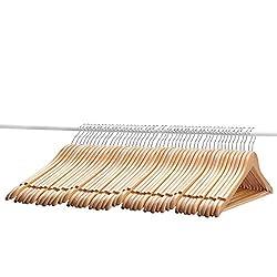 AADYA Wooden Suit Hangers - 48 Pack