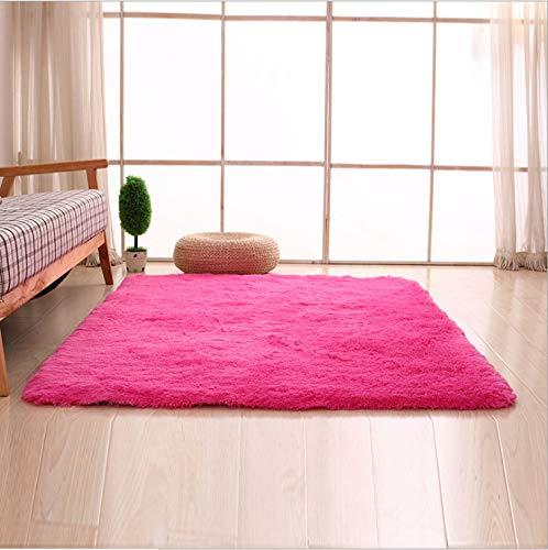 Einfache moderne lange haare haushalt 160 * 230 cm lange haare rose rot lange haare 4,5 cm,Antimüdigkeits Komfortmatte Steh-Bodenmatte ergonomische Matte für Arbeitsplätze ,Stehschreibtische, Küchen,