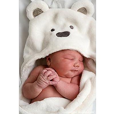 Vine Recién nacido bebé Coral Fleece Blanket Joven Chica Niño Caricatura Osos Saco de dormir
