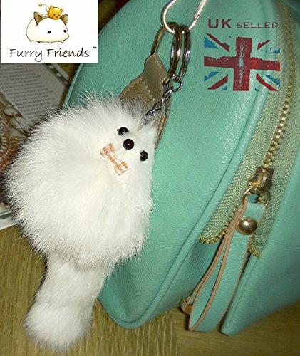 3-for-2-big-white-20cm-designer-fur-keyring-charm-cute-animal-unique-gift-cute-chain-fox-ferret-mons
