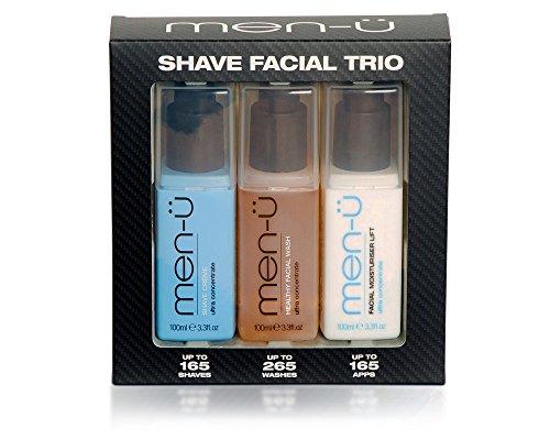 men-ü - Shave Facial Trio - 3-teiliges Rasur & Gesichtspflege-Set - Facial Moisturiser Lift