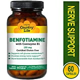 Best Benfotiamines - Country Life, Gluten Free, Benfotiamine with Coenzyme B1 Review