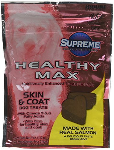 NutriSource Supreme Healthy Max Enhanced with Omega 3 Skin Coat Dog Treats 4z -