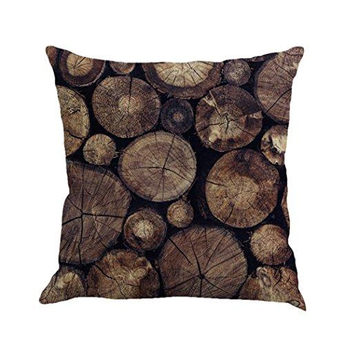 Einfache Casual Style Dekorative Kissen Abdeckung Baumwolle Leinen By Dragon (Braun) (Standard Braun Kissenbezüge)