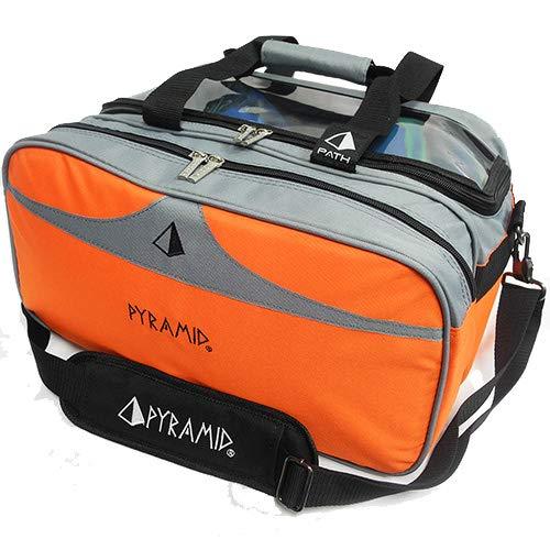 Pyramid Path Bowling-Tasche mit transparenter Oberseite, orange/grau
