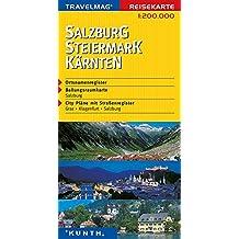 Cartes de voyage Salzbourg, Steiermark, Karnten 1 : 200 000