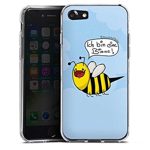 Apple iPhone 5 Silikon Hülle Case Schutzhülle DirtyWhitePaint Fanartikel Merchandise Ich bin eine Biene! Silikon Case transparent
