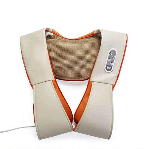 Huwai Massagegerte Shiatsu für Nacken, Schulter, Rücken im Auto und Zuhause LinkHealth Tragbare AnsatzMassager Behandlungen Multimode Therapie Cervical zu Relief Nackenschmerzen zu, 001