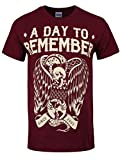 Officially Licensed A Day To Remember Vulture Mens Burgundy ADTR T-Shirt
