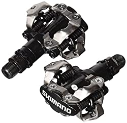 Shimano Pdm520 Clipless Spd Bicycle Cycling Pedals Black With Cleats