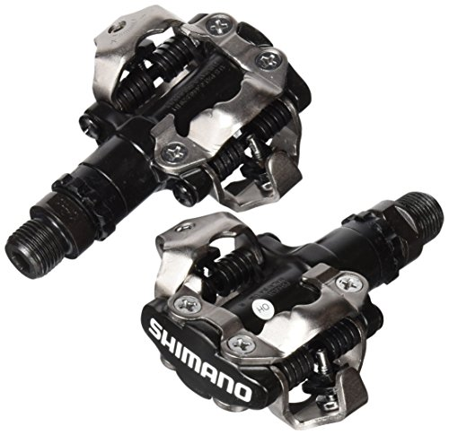 shimano-pdm520-clipless-spd-bicycle-cycling-pedals-black-with-cleats