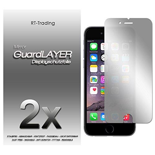 2x Apple iPhone 6 Plus - Spiegelfolie Display Schutzfolie Folie Schutz Mirror Screen Protector Displayfolie - RT-Trading