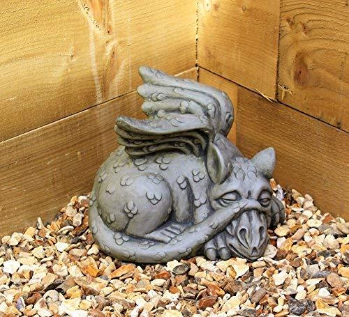 Escultura de dragón de adorno del jardín