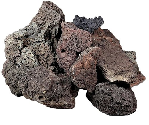 Lava Rock Unique Dark Lightweight with Different Shades and Shapes, Creates Amazing Aquascapes (80 cm Set: 11 natural… 1