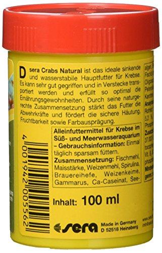 sera 00556 crabs natural 100 ml – Speziell für die Bedürfnisse von Krebsen entwickelt - 2