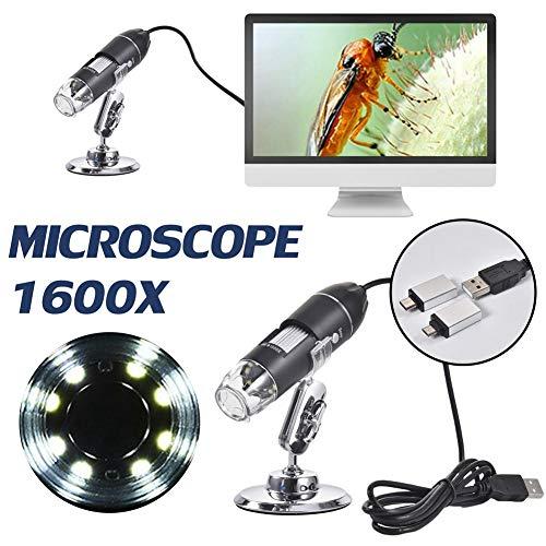USB-Mikroskop Tragbares Digitalmikroskop mit 2 Adaptern Mini-Mikroskopkamera Handheld-USB-Mehrzweckmikroskop für Smartphones