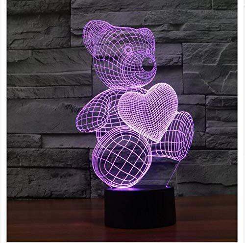 FUWUX Home Kreative Shark led 3D nachtlicht dreidimensionale Kinder Schlaf Schlafzimmer tischlampe 3D optische Illusion nachtlicht schmücken, f (Color : F)