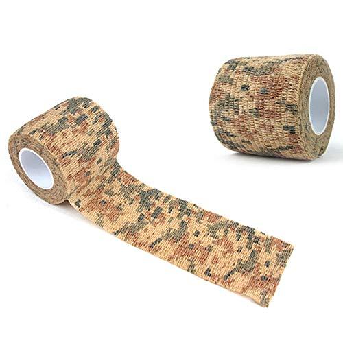 Heilung Dressings (Semine Outdoor-Camouflage Vliesstoff-, Selbstklebende elastische Bandage Camouflage wasserdichter multifunktionaler Verband)