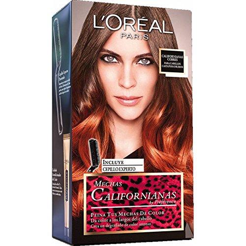 L'OREAL - Coloration - Préférence Mechas Californianas - Look TIE and DYE - Color Mango (Rouge cuivré) (Mechas De Colores)