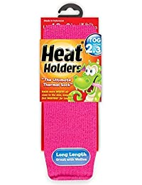 Childrens Thermal Heat Holders Socks All Colours 9-1.5 Uk, 27-33 Eur Age 4-7 years (Hot Pink)