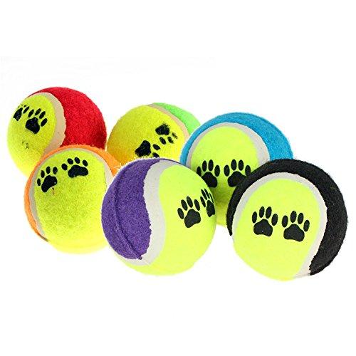 Seawang Pet Supplies Hundespielzeug, Tennisbälle, zum Apportieren und Spielen