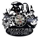 My STORE For YOU Studio Ghibli Wanduhr aus Vinyl, für Kinderzimmer, Geschenkidee für Kinder, Baby, Bruder und Schwester, Ihn und Sie