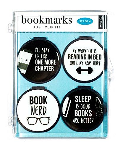 Just Clip It. Zitat Lesezeichen-(Set von 4Clip über die Seite Marker)-One More Kapitel, Buchen Nerd, My Workout ist Lesen im Bett, Schlaf ist gut, Bücher sind besser