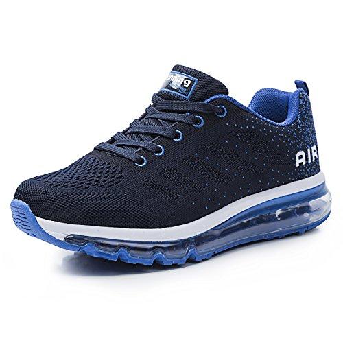 Unisex Herren Damen Sneakers Sportschuhe Bequeme Laufschuhe Schnürer Air Running Shoes 35-45(833BL42)