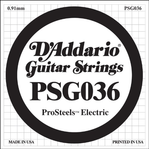 D'Addario Psg036 - Cuerda Para Guitarra Electrica, 0.036, Transparente