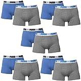 10 er Pack Puma Boxer shorts / blau grau / Size L / Herren Unterhose