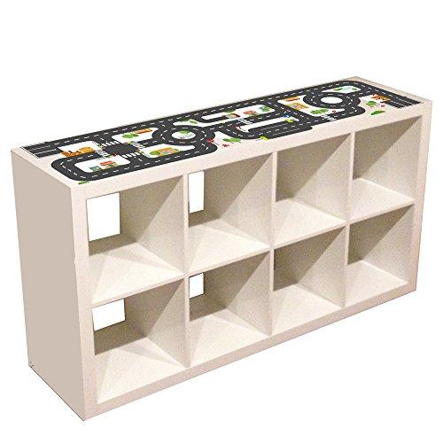 Limmaland Möbelaufkleber Straßen - passend für IKEA KALLAX Regal 4Fach - Kinderzimmer Spieltisch - Möbel Nicht inklusive
