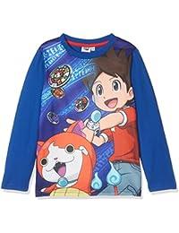 Yokai Watch LS T-Shirt, Top de Manga Larga para Niños