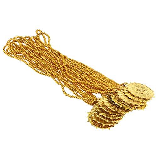 TOYANDONA 12Pcs Kopf-Münze Halskette Vintage Piraten Der Caribbean Anhänger Piraten Hängend Props Geschenke für Kinder Piraten Party Liefert Gefälligkeiten