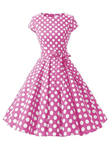 Dressystar-Vintage-1950s-Polka-Dot-and-Solid-Color-Prom-Dresses-Cap-sleeve