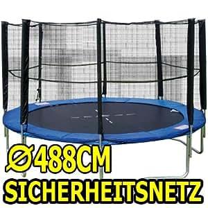 Filet 488 classic filet de protection pour trampoline avec filet de sécurité trampolinnetz 4,88