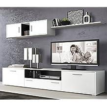 liquidatodo muebles de salon modernos y baratos en color blancografito dimas