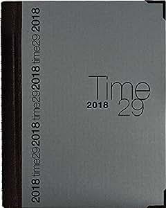 Changement du titreAgenda Exacompta Time 29W Toile Bordée Wire-o avec Répertoire - 297 x 210 mm 29612E - Janvier 2018 à Janvier 2019 - Millésime 2018