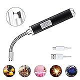 Winzwon Feuerzeug Lichtbogen Stabfeuerzeug USB Elektronisch Feuerzeug Flammloses Wiederaufladbare Lighter für Grill