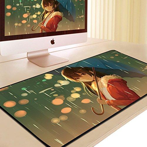 Preisvergleich Produktbild DS-L mousepad große verlängerung,  dick und süße anime - spiele office keyboard tafel matte, der goldene reis ist 90 * 40 zentimeter im regen, 900x400mm, 3