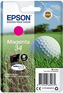 Epson Original 34 Tinte Golfball (WF-3720DWF WF-3725DWF, Amazon Dash...