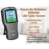 6 in1 laser detector hogar formaldehído CH2O Covt láser de alta precisión de calidad de aire PM2,5 Tester detector estilo Color display