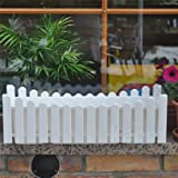 Blumenkasten Balkonkasten Pflanzkasten Landhausstil weiß